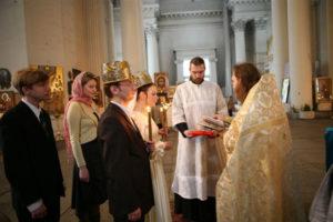 Процесс венчания