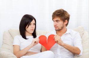 Пара разводится